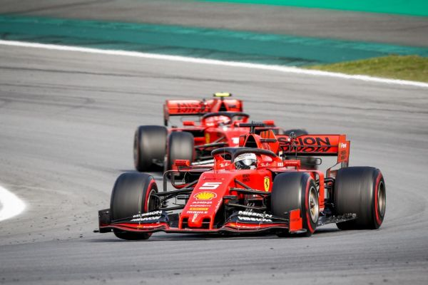 05 VETTEL Sebastian (ger), Scuderia Ferrari SF90, action 16 LECLERC Charles (mco), Scuderia Ferrari SF90, action during the 2019 Formula One World Championship, Brazil Grand Prix from November 15 to 17 in Sao Paulo, Brazil. PHOTO | AFP