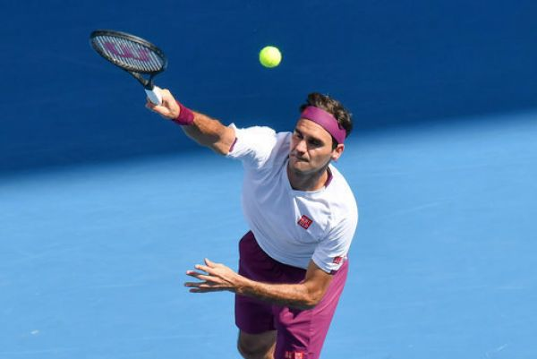 3rd seed ROGER FEDERER (SUI) in action against TENNYS SANDGREN (USA) on Rod Laver Arena in a Women's Singles Quarterfinals match on day 9 of the Australian Open 2020 in Melbourne, Australia. PHOTO | AFP