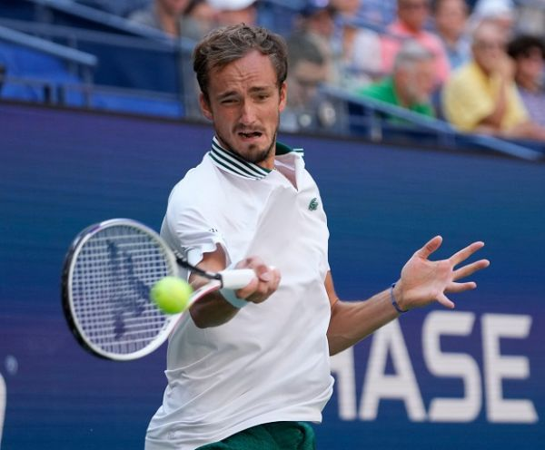 Daniil Medvedev (RUS) defeated Botic Van De Zandschulp (NED) 6-3, 6-0, 4-6, 7-5, at the US Open being played at Billy Jean King Ntional Tennis Center in Flushing, Queens, New York. PHOTO   Alamy