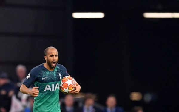 Lucas Moura of Tottenham celebrates his goal to 2-1 Photo: Marius Becker/dpa