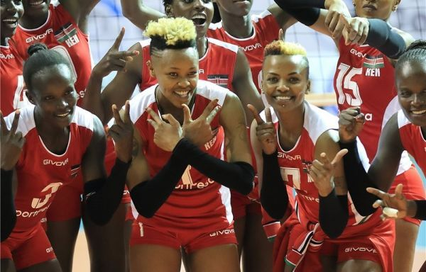 Malkia Strikers during Africa Championships in Yaoundé, Cameroun in October 2017 where they qualified for the 18th edition of FIVB Volleyball Women's World Championship that serves off in Tokyo, Japan on September 29, 2018.PHOTO/KVF