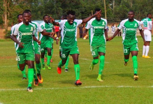 Sony Sugar FC celebrating a goal during a Sportpesa Premier League game on February 7, 2019. PHOTO/SONY SUGAR FC