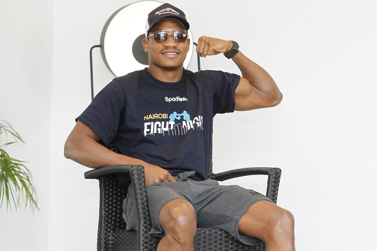 Tanzanian boxer Hassan 'Champez' Mwakinyo relaxing in his hotel ahead of his Super Welterweight bout with Eduardo 'El Tigre' Gonzalez of Argentina  slated for March 23, 2019. PHOTO/ SPN