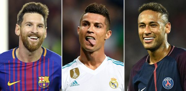 A combination of images shows (L-R) Barcelona's Argentinian forward Lionel Messi, Real Madrid's Portuguese forward Cristiano Ronaldo and Paris Saint-Germain's Brazilian striker Neymar. Neymar was named alongside Cristiano Ronaldo and Lionel Messi on the three-man shortlist for the Best FIFA Men's Player Award, which was announced in London on September 22, 2017. PHOTO | AFP