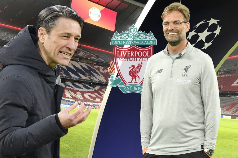 A composite of Bayern Munich head coach Niko Kovac (right) and Liverpool manager, Juergen Klopp ahead of their UEFA Champions League round of 16 second leg clash in Munich on March 13, 2018. PHOTO/AFP