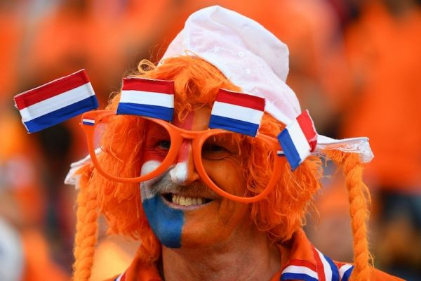 A Netherlands fan smiles before the start of the UEFA Nations League final football match between Portugal and The Netherlands at the Dragao Stadium in Porto on June 9, 2019. PHOTO/AFP