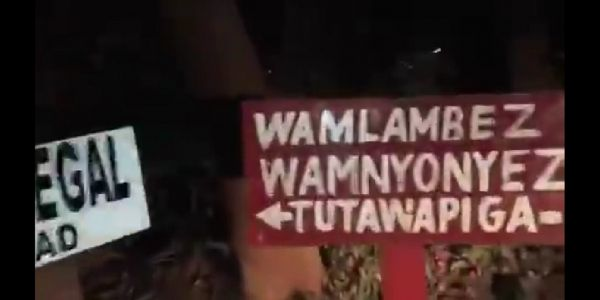 A screen grab of the offensive sign post planted outside the Senegal Embassy in Nairobi ahead of the Kenya versus Lions of Teranga AFCON Group C clash. PHOTO/SPN