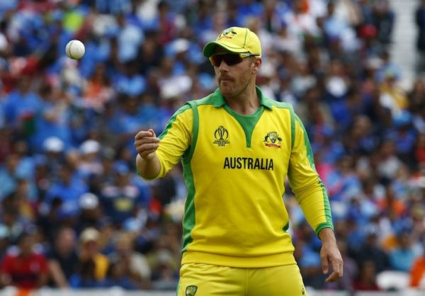 Aaron Finch of Australia during ICC Cricket World Cup between India and Australia at the Oval Stadium on 09 June 2019 in London, England. PHOTO/AFP