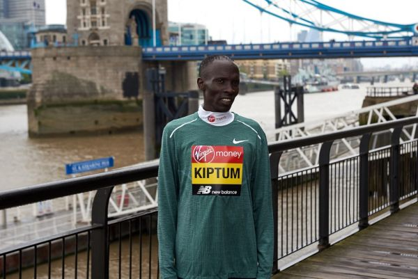 Abraham Kiptum attends the elite men race press conference at the run up to the Virgin Money London Marathon on April 24th, 2019 at the Tower Hotel in London. PHOTO | AFP
