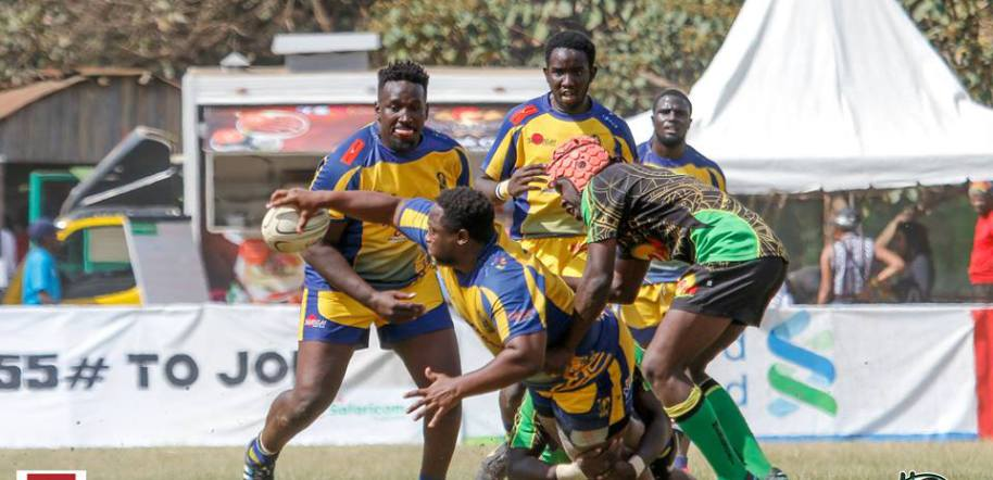 Action during 2018 Impala Floodlit Rugby Tournament contest in Nairobi.PHOTO/KRU