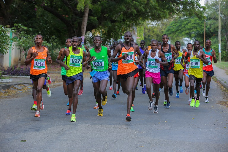 Action during a past Kisumu City Marathon.PHOTO/ SPN