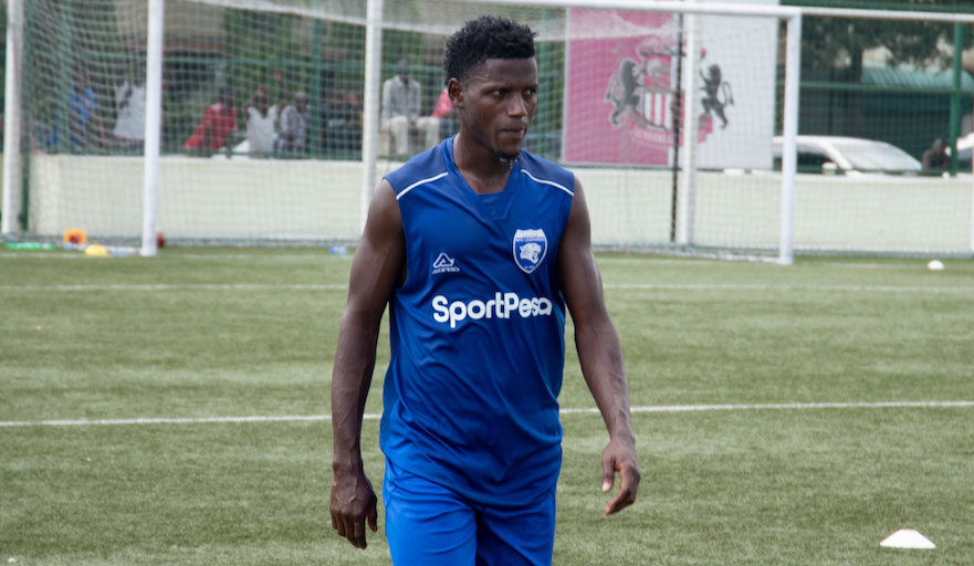 AFC Leopards SC forward, Marcel Kaheza, who is on loan from Tanzania side Simba SC is pictured during their training session on Sunday, January 20, 2019. PHOTO/SPN