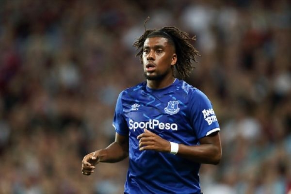 Alex Iwobi of Everton during the Premier League match between Aston Villa and Everton FC at Villa Park on August 23, 2019 in Birmingham, United Kingdom.PHOTO/ GETTY IMAGES
