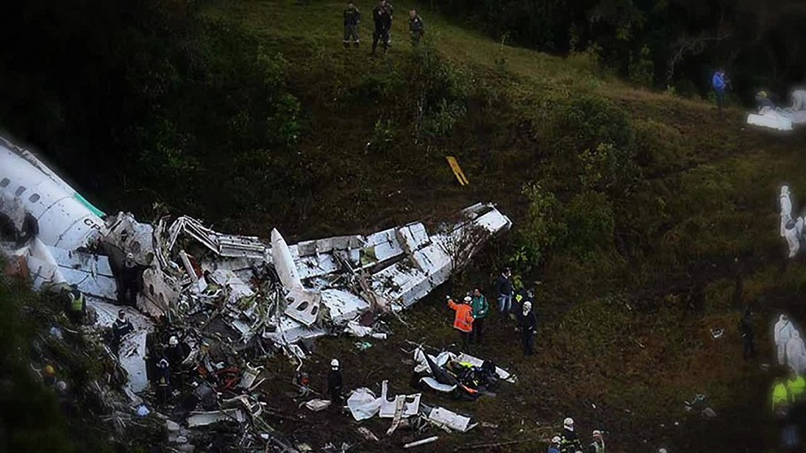 An image of the plane clash that claimed the lives of 71, including players, officials and fans of Brazilian football team Chapecoense. PHOTO/File