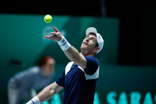 Andy Murray of England in action during his match played against Tallon Griekspoor of The Netherlands during the Davis Cup 2019, Tennis Madrid Finals 2019 on November 20, 2019 at Caja Magica in Madrid, Spain. PHOTO | AFP