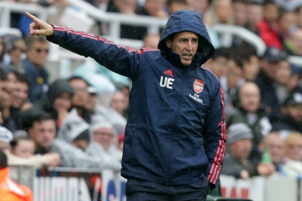 Arsenal's Spanish head coach Unai Emery gestures on the touchline during the English Premier League football match between Newcastle United and Arsenal at St James' Park in Newcastle-upon-Tyne, north east England on August 11, 2019. Arsenal won the game 1-0. PHOTO | AFP