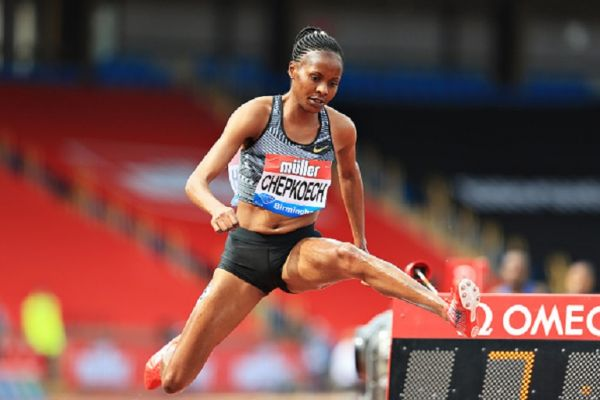 Beatrice Chepkoech of Kenya competes in the Womens 3000m Steeplechase during the Muller Birmingham Grand Prix & IAAF Diamond League event at Alexander Stadium on August 18, 2019 in Birmingham, England. PHOTO/ GETTY IMAGES