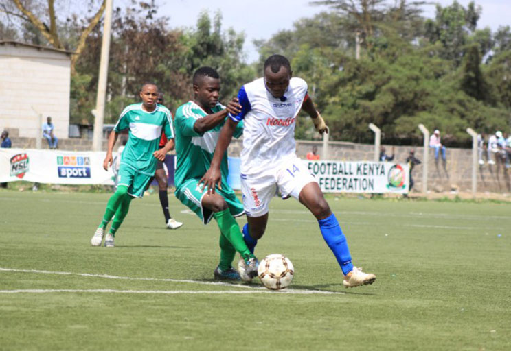 Bidco United's Sean Opwora was on target during their FKF National Super League match against Administration Police at Camp Toyoyo. PHOTO/Courtesy/FKF