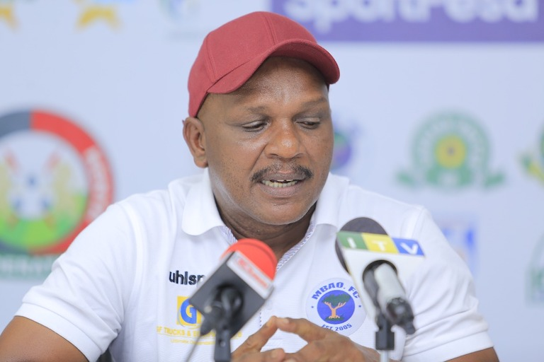 BRONZE MEDAL HUNT: Mbao FC head coach Ali Bushiri addresses the media on the eve of their third-place play-off of the 2019 SportPesa Cup against Tanzania rivals, Simba SC at the Main National Stadium in Dar-es-Salaam on January 26, 2018. PHOTO/SPN