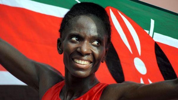Catherine Ndereba after winning gold for Kenya at the 2007 World Championships in Osaka, Japan. PHOTO/File