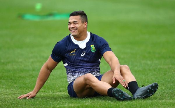 Cheslin Kolbe of South Africa pictured smiling during South Africa Rugby training at Asahi Football Park on October 16, 2019 in Fuchu, Tokyo, Japan. PHOTO/ GETTY IMAGES