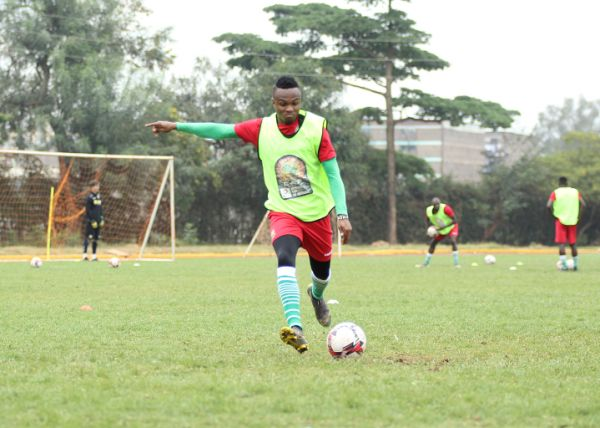 Clifton Miheso during Harambee Stars training in Nairobi on August 2, 2019. PHOTO/ FKF