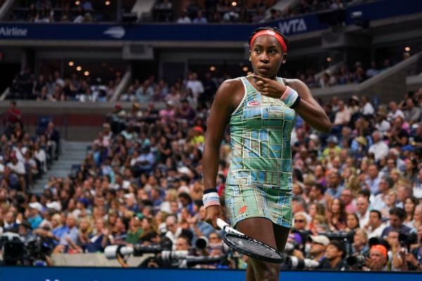 Coco Gauff of the US gestures for her towel during her match against Naomi Osaka of Japan in the Round Three Women's Singles of the 2019 US Open at the USTA Billie Jean King National Tennis Center in New York on August 31, 2019. PHOTO | AFP