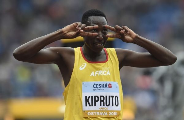 Conseslus Kipruto of Kenya from Team Africa reacts after the Men 3000m Steeplechase event at the IAAF Continental Cup on September 8, 2018 in Ostrava, Czech Republic. PHOTO | AFP