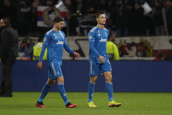 Cristiano RONALDO of Juventus and Federido BERNARDESCHI of Juventus during the UEFA Champions League, round of 16, 1st leg football match between Olympique Lyonnais and Juventus on February 26, 2020 at Groupama stadium in Decines-Charpieu near Lyon, France. PHOTO | AFP