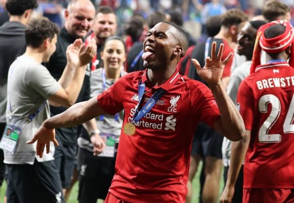 Daniel Sturridge of Liverpool celebrates during the UEFA Champions League Final Tottenham Hotspur Fc v Liverpool Fc at the Wanda Metropolitano Stadium in Madrid, Spain on June 1, 2019. PHOTO/AFP