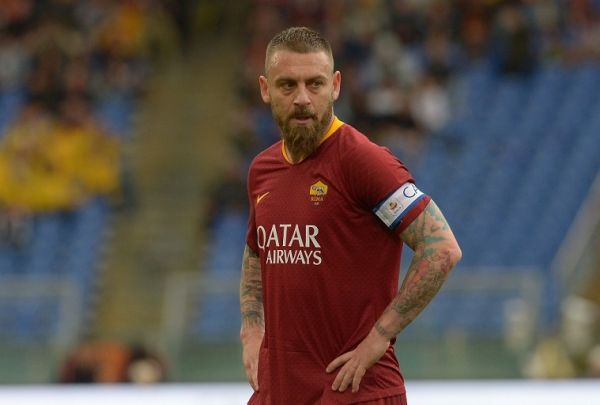 Daniele De Rossi during the Italian Serie A football match between A.S. Roma and Udinese at the Olympic Stadium in Rome, on april 13, 2019. PHOTO/AFP