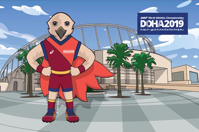 Doha 2019 IAAF World Championships in Athletics Mascot unveiled on Wednesday, February 13, 2019. PHOTO/IAAF