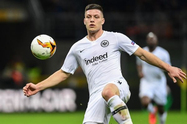 Eintracht Frankfurt's Serbian forward Luka Jovic controls the ball during the UEFA Europa League round of 16 second leg football match Inter Milan vs Eintracht Frankfurt at the San Siro stadium in Milan. Real Madrid said on June 4, 2019 they have signed Serbia striker Luka Jovic from German side Eintracht Frankfurt on a six-year deal for an undisclosed fee. PHOTO/AFP