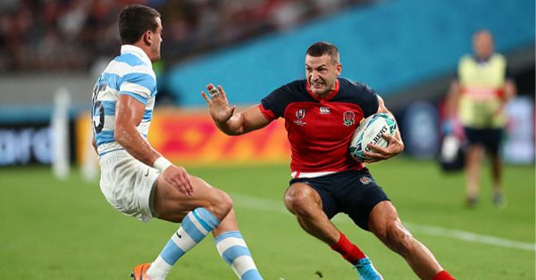 England wing Jonny May in action during the Rugby World Cup 2019 Group C game between England and Argentina at Tokyo Stadium on October 05, 2019 in Chofu, Tokyo, Japan. PHOTO/ GETTY IMAGES