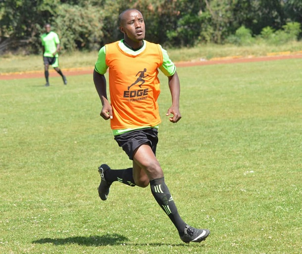 Erick Kapaito during Kariobangi Sharks training in Nairobi on  January 9, 2019.PHOTO/KARIOBANGI SHARKS FC