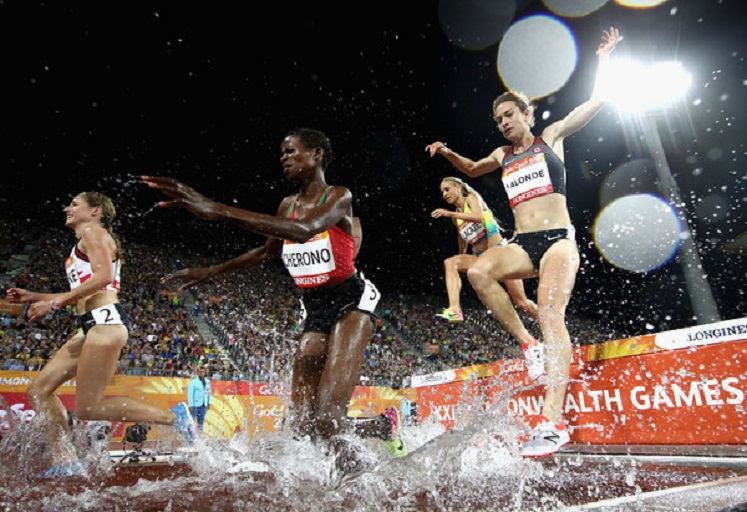 Fancy Cherono in action at the Gold Coast 2018 Commonwealth Games in Australia. PHOTO/File