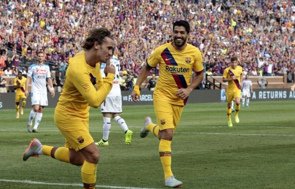 bed9c00be5937 Suarez, Griezmann On Target As Messi-less Barcelona Hammer Napoli ...