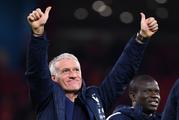 France's head coach Didier Deschamps reacts at the end of the Euro 2020 Group H football qualification match between Albania and France at the Air Albania Stadium in Tirana, on November 17, 2019. PHOTO | AFP