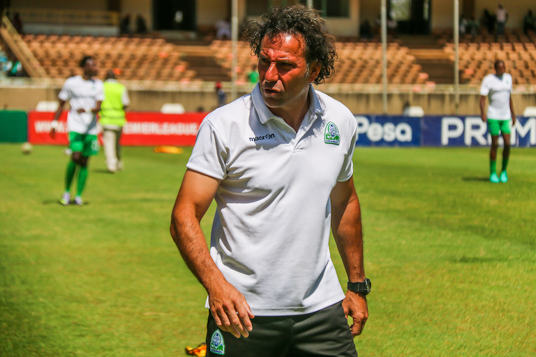 Gor Mahia FC head coach, Hassan Oktay, pictured ahead of the SportPesa Premier League Mashemeji Derby on Saturday, February 9, 2018 against AFC Leopards SC. PHOTO/SPN