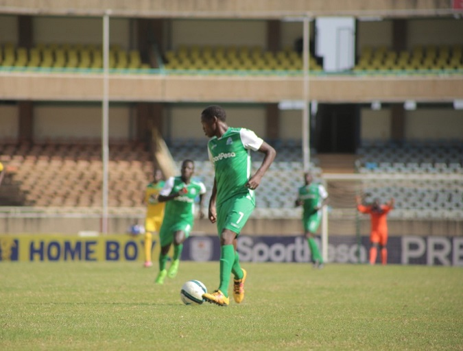 Gor Mahia FC player in action against Mathare United FC at  Kasarani Stadium in Nairobi on January 6, 2019.PHOTO/SPN