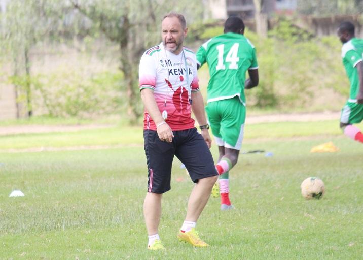 Harambee Stars head coach, Sebastien Migne. PHOTO/File
