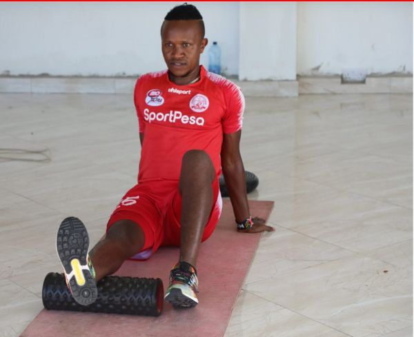 Harambee Stars midfielder Francis Kahata in his first training session with Simba SC in Dar es Salaam on May 31, 2020. PHOTO/Simba SC/Twitter