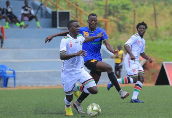 Harambee Stars Under-20 in action against Tanzania at the 2019 CECAFA Tournament in Uganda. PHOTO | FUFA