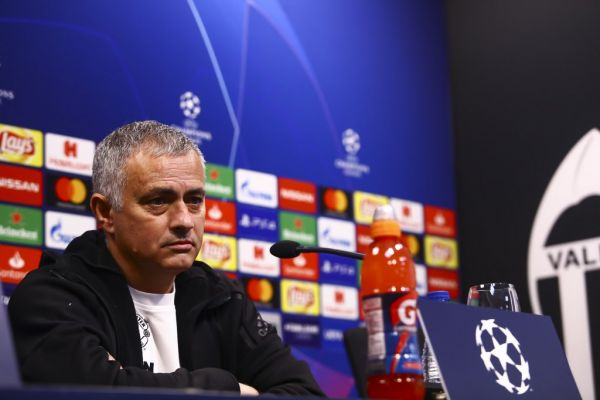 Head coach of Manchester United Jose Mourinho on Press conference before Champions League match between Valencia CF v Manchester United at Mestalla stadium, on December 11, 2018. PHOTO \ AFP