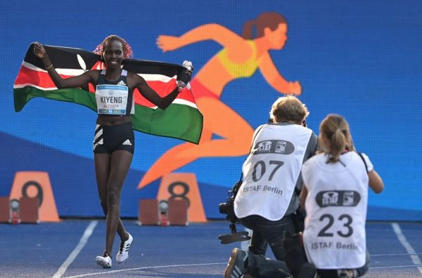 Hyvin Kiyeng battled to finish third in the final of the women's 3000m steeplechase at the ongoing Tokyo 2020 Olympics on Wednesday.