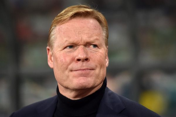 In this file photo taken on October 13, 2019 Netherlands' coach Ronald Koeman looks on prior to the Euro 2020 football qualification match between Belarus and the Netherlands in Minsk. Former Barcelona's Dutch player Ronald Koeman was appointed on August 18, 2020 as new coach of FC Barcelona, assuming the heavy task of rebuilding the team, devastated by its 8-2 rout against Bayern Munich in Champions League's quarter-finals. PHOTO | AFP
