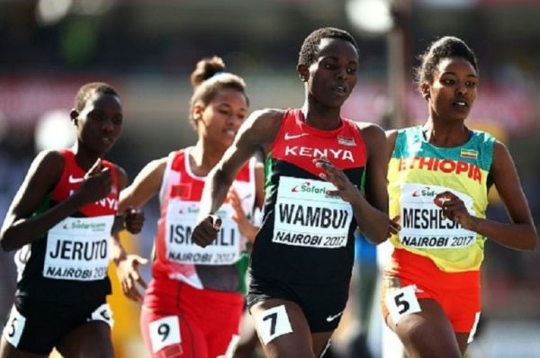 Jackline Wambui of Kenya in action during the final of the girls 800m on day five of the IAAF U18 World Championships at The Kasarani Stadium on July 16, 2017 in Nairobi, Kenya. PHOTO/GETTY IMAGES