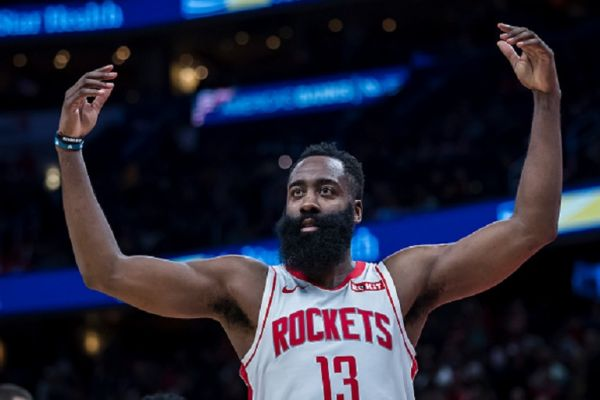 James Harden #13 of the Houston Rockets gestures during the second half against the Washington Wizards at Capital One Arena on October 30, 2019 in Washington, DC. PHOTO/ GETTY IMAGES