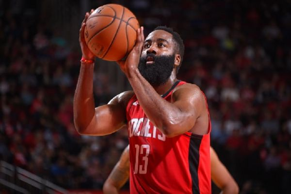 James Harden #13 of the Houston Rockets shoots a free throw against the Golden State Warriors on November 6, 2019 at the Toyota Center in San Antonio, Texas.PHOTO/ GETTY IMAGES