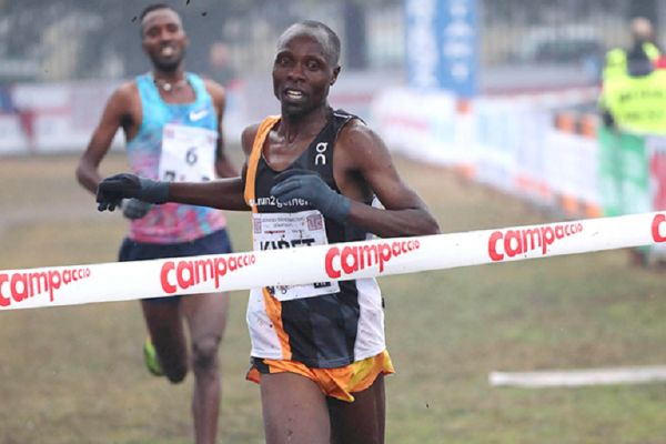 James Kibet wins the men's race at Campaccio. PHOTO/ IAAF